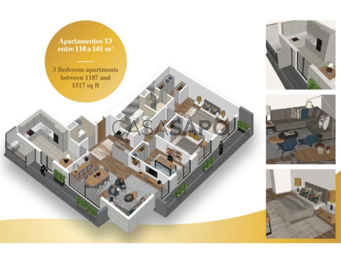 Apartment 3 Bedrooms For sale 220,000€ in Vila do Conde, Vila do